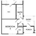 Optional Bedroom 5 with Bath 3